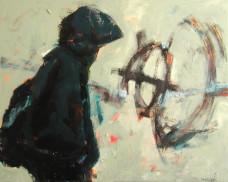 2004 Hamish Fulton geht für die Kunst 80 x 100 cm