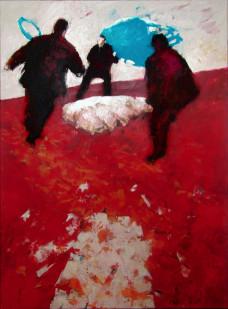 2001 Cattelan in Warschau 150 x 110 cm