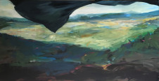 2016Landscape with Black Flag 60x120cm