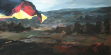 2016Landscape with German Flag 60x120cm