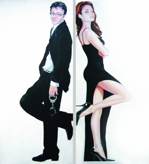 2007 aus der Serie Avatar - Mr and Mrs 2x180x80cm
