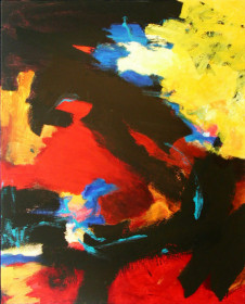 2001 Scribble Black 126 x 90 cm