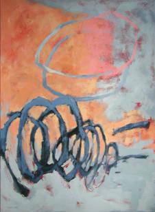 2002 Scribble Rose 150 x 110 cm