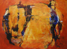 2004 rot abstrakt 80 cm x 100 cm