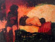 2004 Im Bett 110 cm x 150 cm