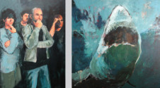 2005 Hirst versus Spielberg 140 x 240 cm