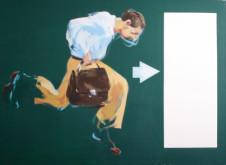 2005 notausgang 110 x 150 cm