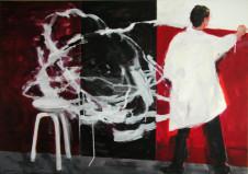 2006 Junge Maler malen wieder abstrakt 100 x 140 cm