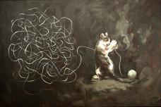 2006 Schrödingers Katze 80 x 120 cm