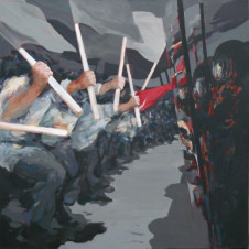 2011 ohne Titel (Athen)150x150cm